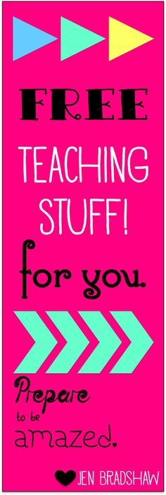 FREE Teaching stuff for your classroom. Lots of reading and organization tools. Perfect for the start of school.