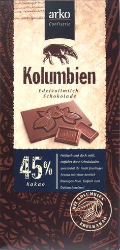 "Arko-Confiserie-Milchschokolade ""Kolumbien"" 45%"