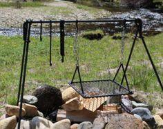 Small Folding Dutch Oven Campfire Cook Set