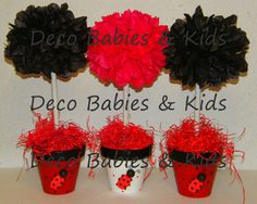 Ideas baby shower ideas for girls centros de mesa candy bars Ladybug Centerpieces, Baby Shower Centerpieces, Baby Shower Decorations, Baby Shower Brunch, Baby Shower Fun, Baby Shower Favors, Miraculous Ladybug Party, Baby Bar, Baby Girl Announcement