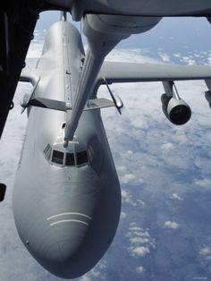 KC-10 Extender Refuels a C-5 Galaxy