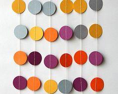 Paper garland Birthday decorations Birthday by TransparentEsDecor