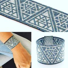Le patron de la manchette DELTA est en ligne! Vous trouverez le lien dans ma bio! Bonne soirée à toutes #manchette #bracelet #tissage #perles #miyuki #delicas #peyote #jenfiledesperleserjassume #triangle #delta #patron #pattern Bead Loom Bracelets, Beaded Bracelet Patterns, Peyote Beading, Jewelry Patterns, Seed Bead Patterns, Peyote Patterns, Beading Patterns, Diy Accessoires, Beaded Bracelets
