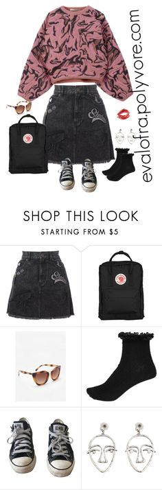 """Untitled #675"" by evalofra ❤ liked on Polyvore featuring Balenciaga, Marc Jacobs, Fjällräven, MANGO, River Island, Converse, outfit and ootd"