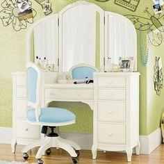 schminktisch celeste inkl hocker wei wohnen. Black Bedroom Furniture Sets. Home Design Ideas