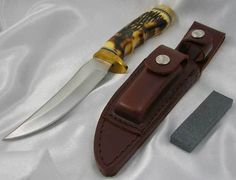 Schrade Knives Uncle Henry Golden Spike Fixed Blade Knife 153UH #Schrade