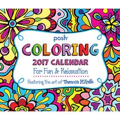 Created by Thaneeya McArdle, the author of over 20 adult coloring books, this clever calendar contains over 300 images to color including mandelas, flowers, sugar skulls, landscapes, cats, and more.
