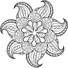 Flower Mandala coloring page from Floral mandalas category. Select ...