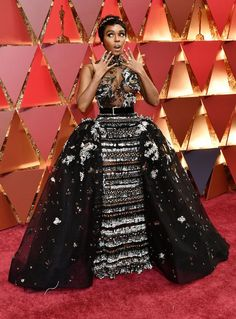 janelle-monae | Here Are The Best Dressed Stars From The 2017 Oscars Red CarpetVision in white, Karlie Kloss arrives on Oscars' red carpetFather-Son Company Donates Designer Suits To Low-Income Men
