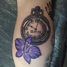 Pocket Watch Tattoo by Mike Harper