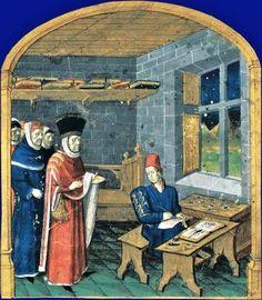 Le copiste-enlumineur Giovanni Colonna, Mare historiarum, ouest de la France (Angers ), milieu XVe siècle.