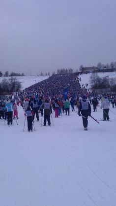Московская лыжня 2012-18000 участников