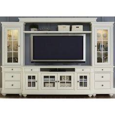 Liberty Furniture Harbor View Entertainment Center with Piers - A perfect home entertainment setting is about more than just a perfect TV - you need a savvy place to store it, too, like the Liberty Furniture. Entertainment Wall Units, Home Entertainment Furniture, Liberty Furniture, City Furniture, Furniture Stores, System Furniture, Kitchen Furniture, Furniture Ideas, Furniture Dolly