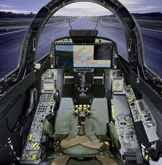 Gripen E with a wide-area display (WAD)