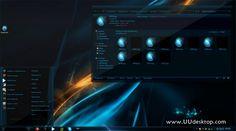 Sub Zero Sapphire for win7 desktop themes - free desktop themes download