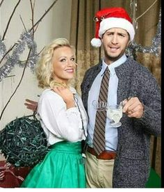 Luke & Caroline Bryan  I like that they're dressed as the Griswolds.