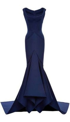 Solid Neoprene Flared Gown by Zac Posen - Moda Operandi $4,200.00. Click to find more cheap but fantastic formal dresses.