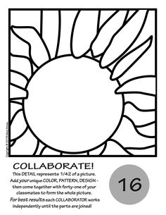 Radial Symmetry COLLABORATIVE Activity Coloring Pages ...