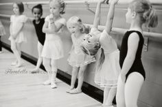 Funny, carefree Sasha at Ballet Class - Florabella Colorplay B/W Action