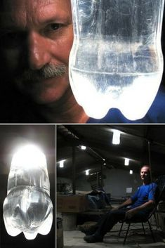 Alfredo Moser's invention, a lamp made out of a plastic bottle filled with water and bleach, has been spreading rapidly around the world and it's expected to be in one million homes by early next year. Chandelier Makeover, Diy Chandelier, Pendant Lamps, Outdoor Light Fixtures, Outdoor Lighting, Bleach Bottle, Touch Lamp, Lighting Design, Lighting Ideas