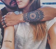 Unique Mandala Tattoo Designs – Best Tattoos Designs & Ideas for Men & Women Date Tattoos, New Tattoos, Tattoos For Guys, Cool Tattoos, Tatoos, Music Tattoos, Mandala Tattoo Design, Mandala Tattoo Mann, Lotus Tattoo