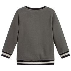 d904deda1af KARL LAGERFELD Kids - Boys Grey Logo Sweatshirt   Childrensalon Karl  Lagerfeld Kids, Kids Online