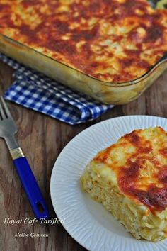 Baked Pasta - Hayat Cafe Easy Recipes - pasta recipe in the oven Baked Pasta Recipes, Easy Cake Recipes, Baking Recipes, Turkish Recipes, Italian Recipes, Italian Foods, Baked Spaghetti Pie, Bread And Pastries, Pasta Bake