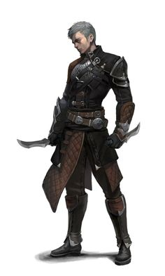 Male Human Knife Master Rogue Assassin - Pathfinder PFRPG DND D&D d20 fantasy