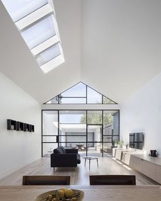 Indoor glass front