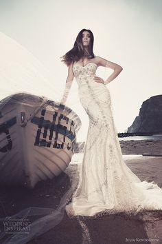 julia kontogruni bridal 2013 strapless wedding dresses