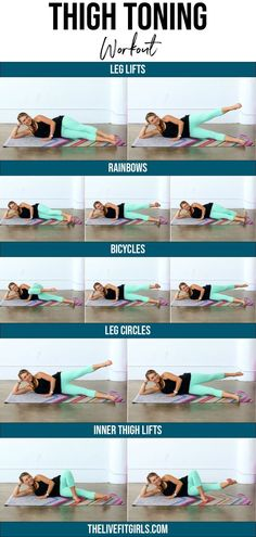 Get Thinner Thighs! The BEST Inner Outer Thigh Workout The BEST exercises to target and tone every women's trouble spot -- the Inner & Outer Thighs! You will LOVE this workout! Thinner Thighs Workout, Thigh Thinner, Thinner Legs, Fun Workouts, At Home Workouts, Body Workouts, Workout Exercises, Inner Thigh Lifts, Leg Lifts