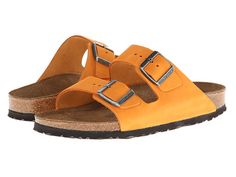 Birkenstock Arizona - Nubuck Russet Orange Nubuck - Zappos.com Free Shipping BOTH Ways