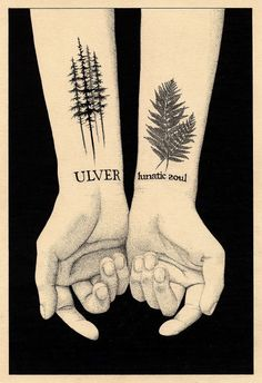 I would never get a band name tattooed but I love the way the trees and leaves look, as well as the delicacy of the fonts.