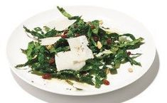 Kale Salad with Pinenuts, Currants and Parmesan #Jamiesveganandvegetarianrecipes
