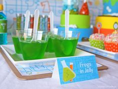Professor Hugo's Science Themed Birthday Party by Crackers Art Mad Science Party, Mad Scientist Party, Scientist Costume, Summer Science, 10th Birthday Parties, 8th Birthday, Birthday Ideas, Lila Party, Spy Party