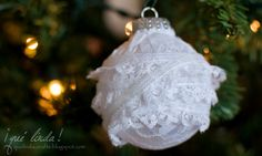 lace ornament for Christmas tree