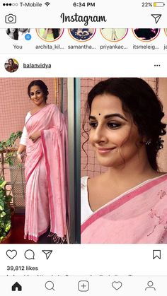 Indian Attire, Indian Wear, Indian Outfits, Saree Blouse, Sari, Ritu Kumar, Vidya Balan, Saree Wedding, Office Wear