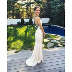 """Pin for Later: If You Think Hilary Rhoda's Wedding Dress Is Surprising, Wait Until You See the Bridesmaids  Dannijo 'grammed a profile shot of Hilary, referring to her as a """"model bride."""""""