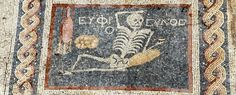 "Archaeologists have discovered an ancient mosaic skeleton that says ""enjoy your life"" - ScienceAlert"