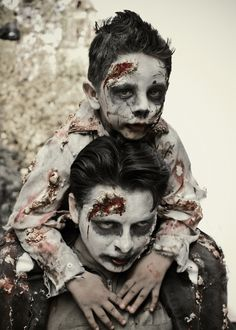 Dad and Son zombies!! :O