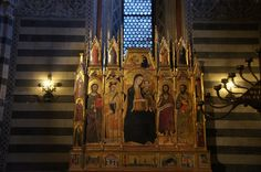 Duomo di Siena,baptistery | Siena - The Baptistery - part of the Duomo This is the Alter-piece of ...