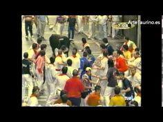 Encierro San Fermin 9 de julio de 2002 Ganadería Santiago Domecq - YouTube