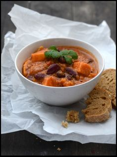 African Stew with Sweet Potato, Red Beans, and Peanut Butter