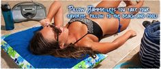 You can also take Pillow Jammie to the Beach and Pool!    Summers In Hawaii from the Pillow Jammie Collection