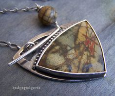 Earthtones - Sterling Silver and Cherry Creek Jasper Necklace