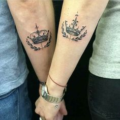 17 Couple Tattoos That Prove True Love Is Permanent - Page 9 of 17 - - Tattoo Ideen - Couple Simple Couples Tattoos, Cute Couple Tattoos, Couples Tattoo Designs, Trendy Tattoos, Small Tattoos, Tattoos For Women, Tattoos For Guys, Couples Matching Tattoos, Couple Tattoo Ideas
