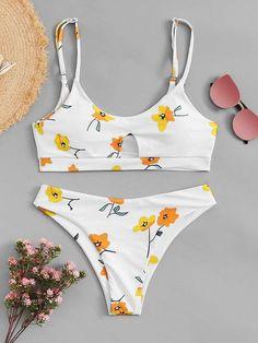 b624519677223 9 Amazing Floral Swimsuit Bikinis images | Bikini swimwear, Bikini ...