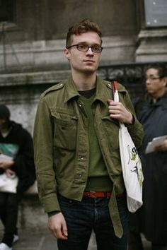 On The Street....Military Green & Rede, Paris.......The Sartorialist