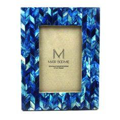 Blue Chevon Bone Wood Frame - Matr Boomie (P)