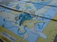 :-) Hermès Le Carnaval de Venise silk jacquard scarf - detail - for sale :-)